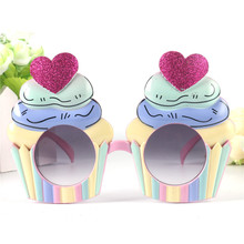 Creative Ice Cream Birthday Glasses Costume Cupcake Hen Night Stag Fancy Dress Colorful Creative Party Supplies Event Decoration
