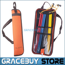 Drumstick Bag Waterproof Oxford Drum Dticks Shoulder Case Holder Orange Portable  New