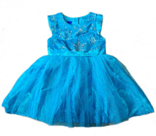 Cartoon Princess girls childrens kids dress summer girl blue dresses fancy costume cosplay costumes 8 pcs/lot