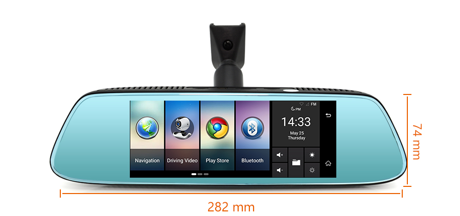 "Junsun 8"" 4G Special Mirror Car DVR Camera Android 5.1 with GPS DVRs Automobile Video Recorder Rearview Mirror Camera Dash Cam 29"
