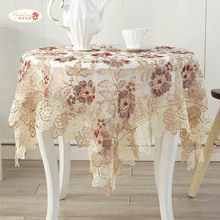 1 Piece European Classical Lace Embroidery Table Cloth/ Tea Table Cloth Round Table Cloth/ The Family Decorates Tablecloth