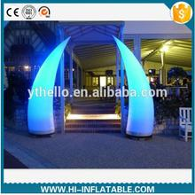 florid inflatable illumination tusks light with led bulb for event,wedding/inflatable pillar/led inflatable tube light