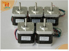 Super Wantai 5 PCS, Nema 17 Stepper Motor 4000g.cm,1.7A,2phases (CE,ROSH)42BYGHW609, CNC Robot 3D Makebot Reprap Printer<br>