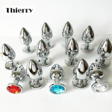Thierry 100% real photo Metal Anal Butt Plug Stainless Steel Anal Plug, Erotic sex toys for Adults games, Sex Products For women