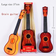 Large Size Musical Instruments Child Guitar Portable Music Electronic Organ Educational Toys For Children Wooden Panels(China)