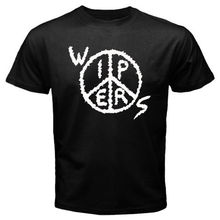 Gildan Brandest Men Cool Wipers Peace Logo Punk Rock Band Design T Shirt Novelty Tops Custom Printed Short Sleeve Tees(China)