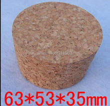 63mm* 53mm* 35mm size, 10pcs/lot! soft cork stopper for glass bottles,stopper,bung,wooden plug etc.(China)