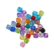 100pcs/Lot 6/8mm Cheap New Hot DIY Transparent Mix Rondelle Loose Spacer Round Acrylic Beads Bicone Faceted Bead Jewelry Making