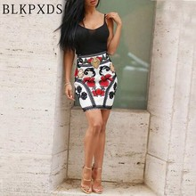 2016 Fashion Summer Colorful Strap strapped Patchwork Floral Flower Dress Sexy Print Pattern Dresses Women Bodycon Clubwear