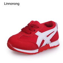 Linnonong 2017 New Children Sneakers Spring Autumn Breathable Girls Boys Sport Running Shoes Fashion Kids Mesh Sneakers