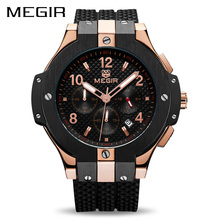 Buy MEGIR Chronograph Sport Watch Men Creative Big Dial Army Military Quartz Watches Clock Men Wrist Watch Hour Relogio Masculino for $28.90 in AliExpress store
