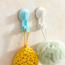 plastic Wall Hooks Hanger Kitchen Bathroom Suction Cup Suckers Powerful Vacuum Suction Robe Hooks Tile Nail Towel Sticky Hook