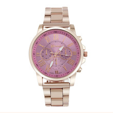 erkek kol saati Colorful Womens Mens Stylish Fashion watch Roman numberals Stainless Steel Big Dial Watch Quartz Sports Watch