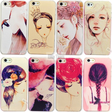 4 4S 1PC Beautiful Girls painted cases for Apple iphone 4 4S Case cover Mobile phone shell protector Shell Cover 2016 Top Newest