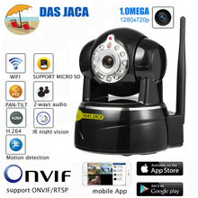 Das Jaca 1.0MEGA IP Camera P2P Baby Monitor Surveillance Camera 720P HD WIFI Camera Infrared Night Home Protection Mobile Remote(China)