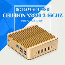 Mini pc N2830 N2840 J1800 8G RAM 64G SSD WIFI Mini Desktop Computer Hdmi X86 Mini Htpc Fanless Mini Computer Support Hd Video