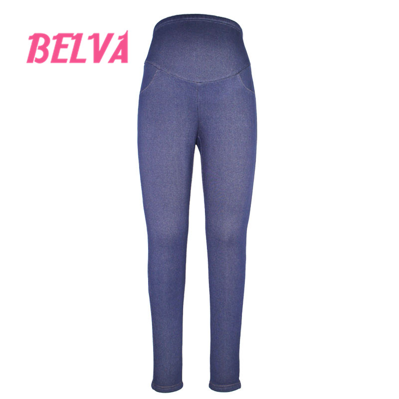 Belva pregnant women care belly trousers plus velvet thick leggings women super soft plus size warm pregnancy pants tide  539<br><br>Aliexpress