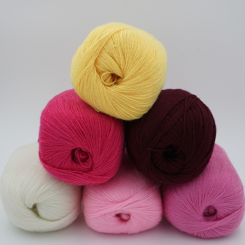 6 pieces*50g Yarn for Hand Knitting wool yarn crocheting Mink wool Yarn for knitting Hermelin flocking Hand woven thread t7(China)