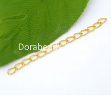 DoreenBeads 100 PCs Gold color Extended&Extension Jewelry Chains/Tail Extender 50x3mm (B04931), yiwu