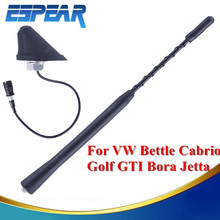 "9"" AM FM Radio Car Roof Mast Whip Aerial Antenna with Base For VW Golf GTI Bora Jetta Bettle Cabrio #9150(China)"
