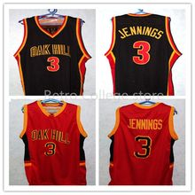 BRANDON JENNINGS #3 OAK HILL HIGH SCHOOL JERSEY BLACK Customize any number size and player name Stitching Shirt Custom any Numbe(China)