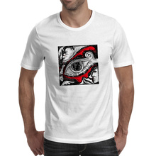Deep Eye T Shirt Abstract Face Artwork Funny Punk Pop T-shirt Fashion Design Skate Unisex Tee(China)