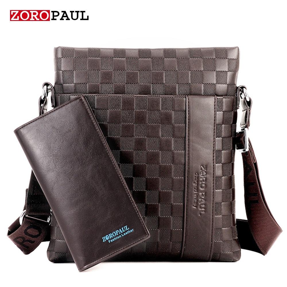 ZOROPAUL 2017 Brand Men Messenger Bag Male Leather Casual Crossbody Bag Business Mens Handbag Bags for gift Shoulder Bags Men<br>