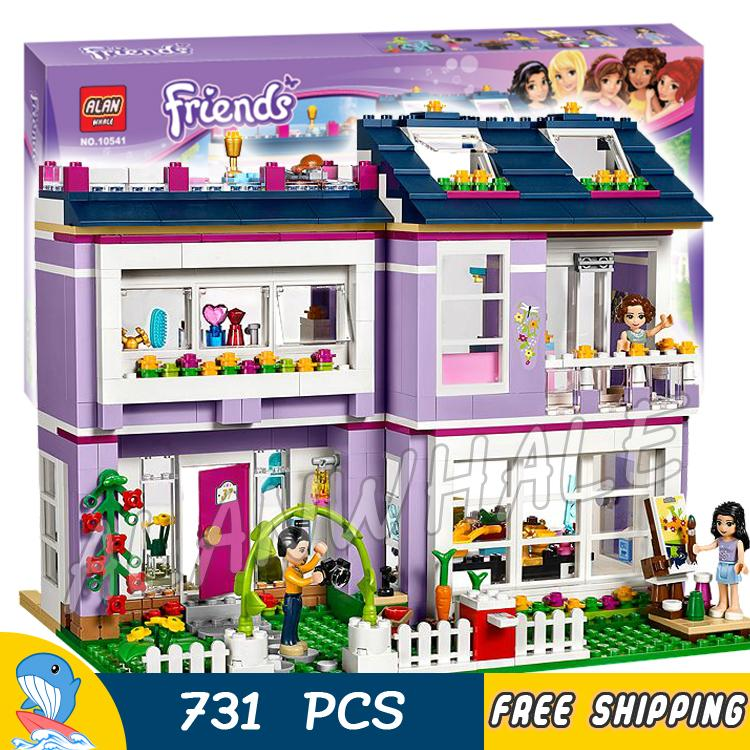 731pcs Friends Heartlake City Princess Emmas House 10541 Model Building Blocks Assemble Bricks Toys Luis Compatible With lego<br>