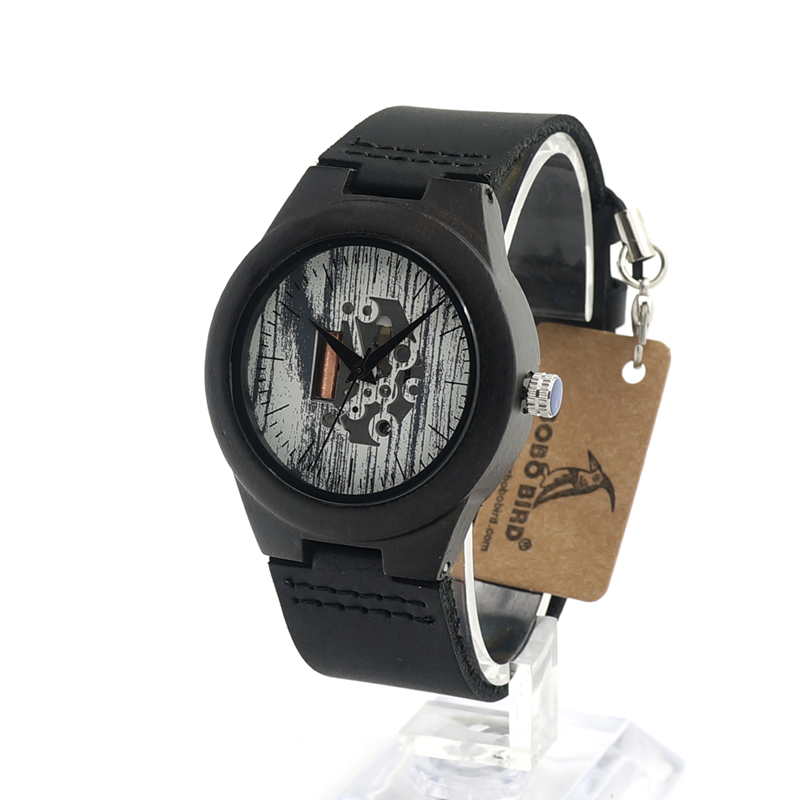 2017 Luxury Brand BOBO BIRD Watch Women Wood Watches Black Wooden Wristwatches relogio feminino - Black Genuine Strap C-I08<br><br>Aliexpress
