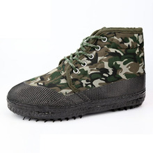Buy Flocking Thick Thermal Warm Canvas Camouflage Training Cotton Shoes High Top Men Women Shoes Winter Military Shoes Army Green for $19.98 in AliExpress store
