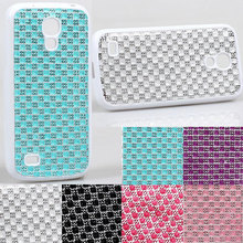 New arrival Sexy lady Luxury Matte jewel diamond grid Soft resin TPU Case For Samsung Galaxy S4 Mini i9190 protector Back Cover