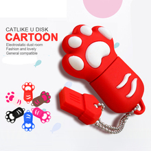 pen drive bear palm USB Flash Drive Memory Stick/thumb 4g 8g 16g 32g 64g cat paw flash Pendrive tiny U Disk external storage(China)