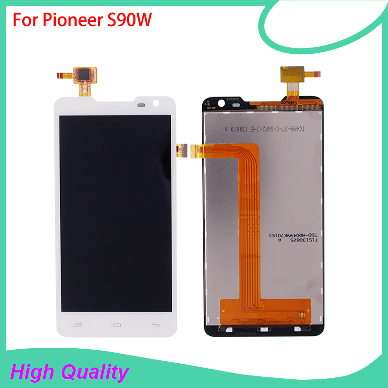 New Brand LCD Display Touch Panel For Pioneer S90W S90 Touch Screen White Color For Prestigio PAP 5044 Mobile Phone LCDs<br>
