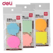 Deli 80 sheets Korean Sticky Notes Creative Post Notepad Filofax Memo Pads Office Supplies School Stationery Scratch