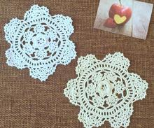 NEW Lace Cotton Crochet tablecloth white Table cloth towel kitchen mat Round DIY flowers handmade Table Cover for wedding decor