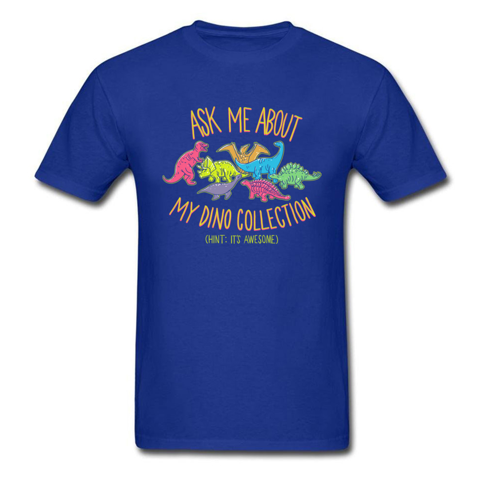 Normal dino collection 5493 Men T Shirt Newest Autumn Short Sleeve Crewneck 100% Cotton Tops & Tees Normal Tee-Shirt dino collection 5493 blue