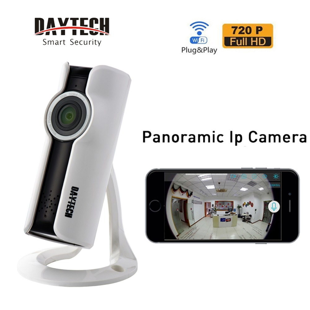 DAYTECH IP Panoramic Camera WiFi 720P HD Home Security Wireless Network Video Baby Monitor P2P Two Way Audio Night Vision IR 180<br>