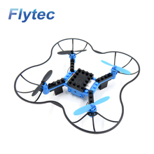 Freeshipping Flytec T11 DIY Building Block RC Quadcopter 3D Flip Headless Mode Mini Bricks Drone For Educational Assembled Model(China)
