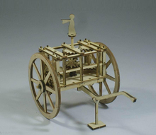 Ancient chariot model-Compass model (differential gear)