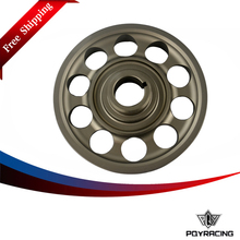 PQY RACING Free shipping- Racing Light- Weight Crank Pulley For CIVIC FD2 FD2R 2.0 K20A PQY-CP005