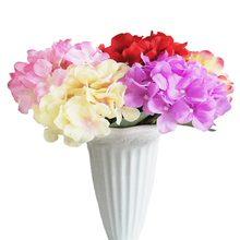 Artificial Flowers Plant Hydrangea 1pcs Romantic Wedding Bridesmaids Bouquet Home Decoration Silk Craft Fake Flowers JK391(China)