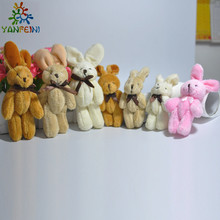 2Pcs/Set Wedding Gift Joint Rabbit Bouquet DOLL TOY DIY Pendant Plush Stuffed TOY Soft Figure Candy Box DOLL TOY 4Colors