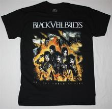 BLACK VEIL BRIDES SET THE WORLD ON FIRE SHOCK ROCK GLAM METAL NEW BLACK T-SHIRT T SHIRT Sleeve 100% Cotton Man Tee Tops(China)