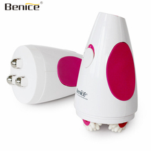 Benice Infrared Electric Body Face Slimmer Messager Tools Handhold Weight loss Fat Burner Anti Cellulite Massage Roller Machine(China)