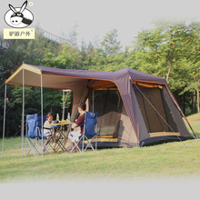 5-6 people outdoor tent  4 open doors 300*270*190cm double layer ventilation automatic rainproof sunshade awning camping tent