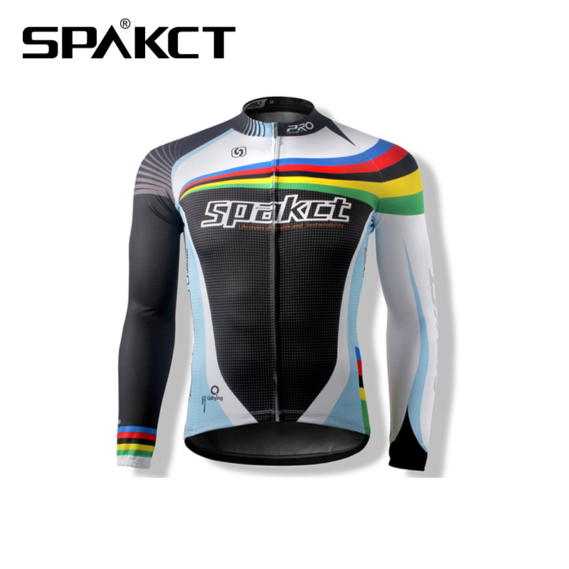 Spakct Cycling Sport Long Jersey Mens BIke Bicycle Long Sleeve Jersey Sportwear-Cote dAzur New<br>
