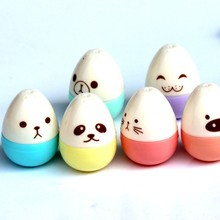 6 pcs/lot Novelty Egg Highlighter Marker Pen Colored Face Show Highlighters for Kids Kawaii Stationery Office school supplies(China)