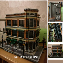 H&HXY IN STOCK 15017 4616Pcs Starbucks Bookstore Cafe Model Building Kits Blocks Bricks lepin DIY Children Educational Toys Gift