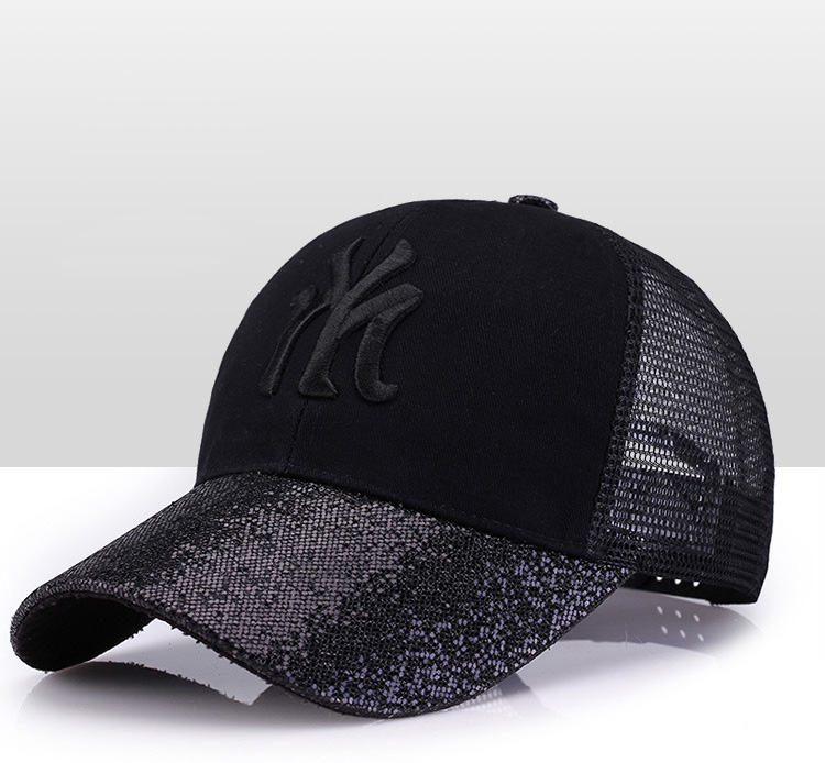 [Rancyword] 17 New Branded Baseball Caps Canada Women's Cap With Mesh Bone Hip Hop Lady Embroidery Hats Sequins RC1134 4