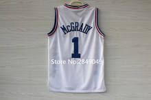 #1 Tracy McGrady #3 Allen Iverson 2003 East All Star Game Throwback Basketball Jersey(China)